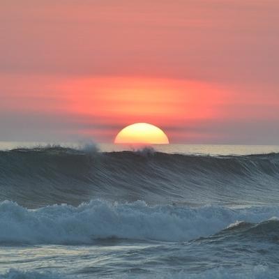 Surf sulle coste del pacifico