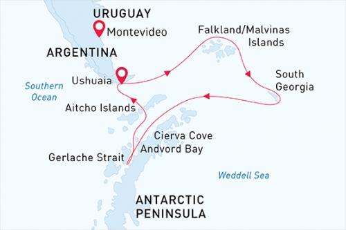 Crociera Falkland – S.Georgia – Antartico