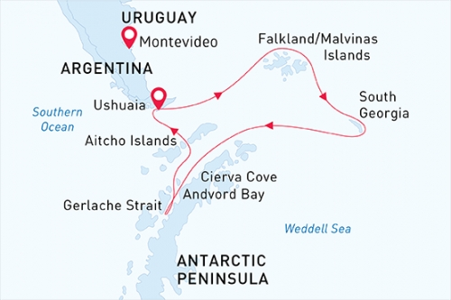 Isole Falkland, South Georgia e Penisola Antartica